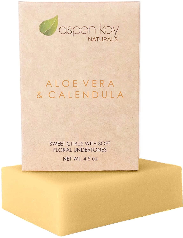 Aspen Kay Natural Aloe Vera Calendula Soap